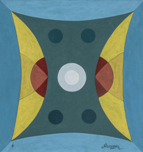 Sistema binario 2001, olio su tela, cm 40 x 40