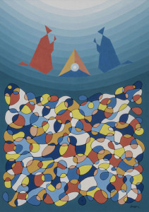 Il misterio della natività 2001, olio su tela, cm 100 x 140