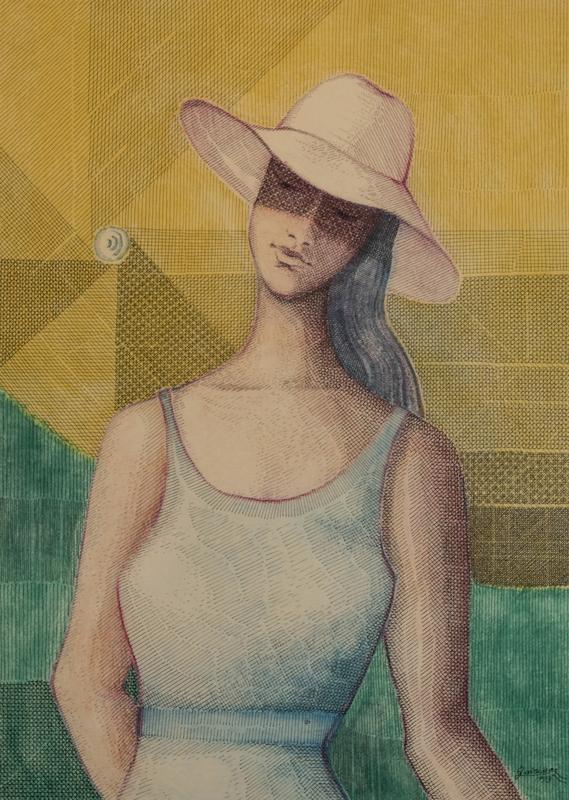 """1993 pastello chinato, cm 50 x 70<a href=""""http://www.quirinodeieso.com/2018/01/09/ragazza-col-cappello-il-nicoletto/"""" target=""""_blank"""">RECENSIONE</a>"""
