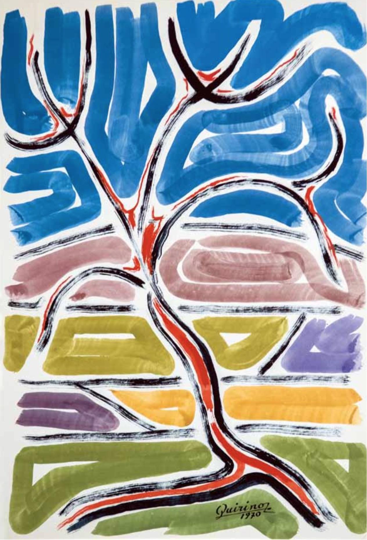 1970 tempera su cartoncino, 50 x 34,5 cm